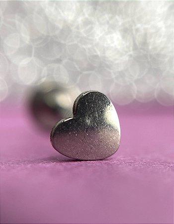 Labret Coração em titânio