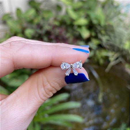Piercing  Microbell  Laço Cristal