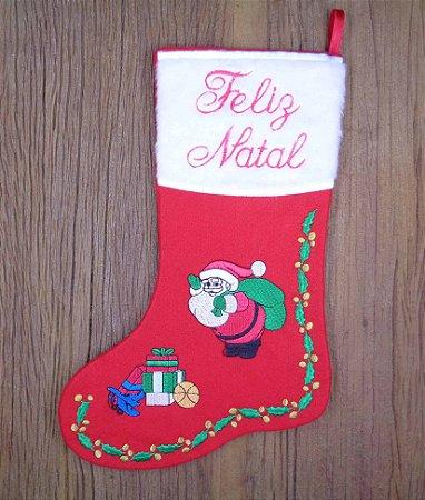 Enfeite de Natal bota Papai Noel