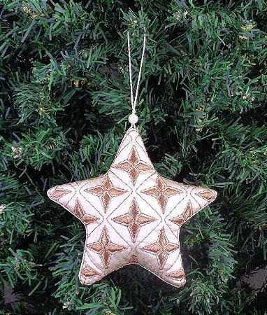 Enfeite de Natal estrela brilho