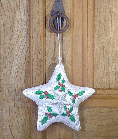 Enfeite de Natal estrela ramos