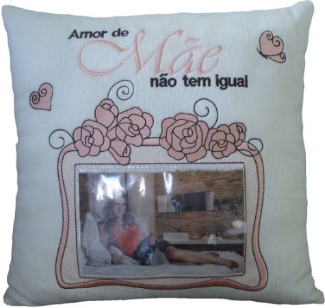 Almofada Mãe rosas com porta retrato
