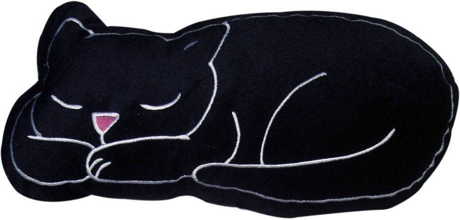 Almofada gato preto