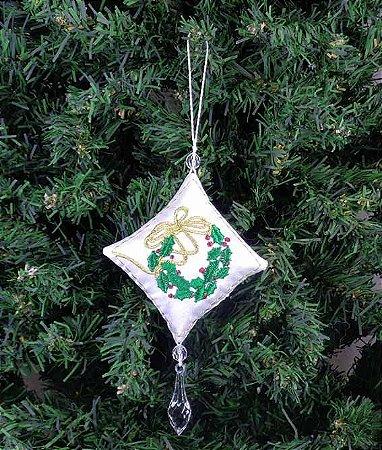 Enfeite de Natal pingente coroa