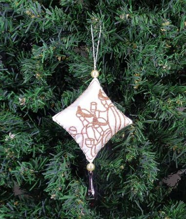 Enfeite de Natal pingente reis magos