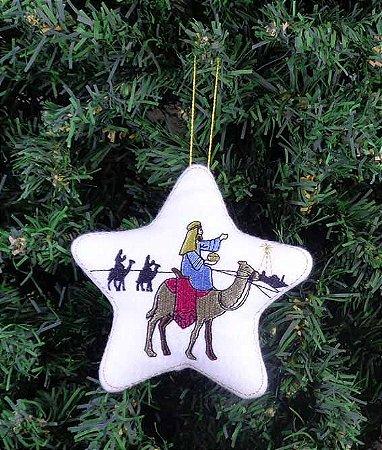 Enfeite de Natal estrela reis magos