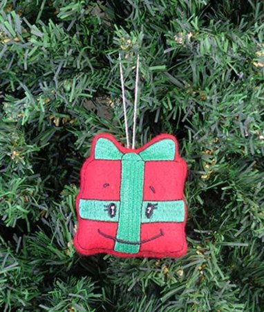 Enfeite de Natal presente feliz
