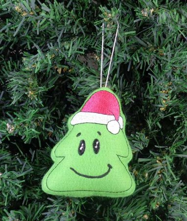 Enfeite de Natal pinheiro feliz
