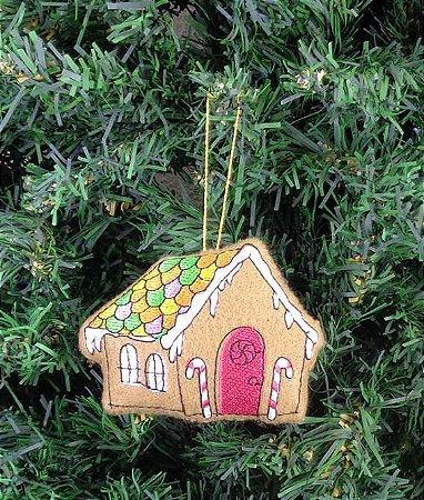 Enfeite de Natal casa de doces