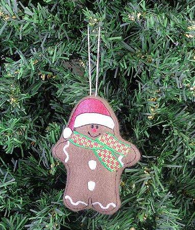 Enfeite de Natal boneco gengibre