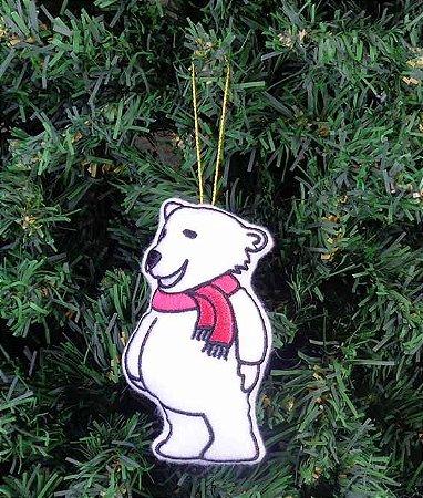 Enfeite de Natal urso polar em pé