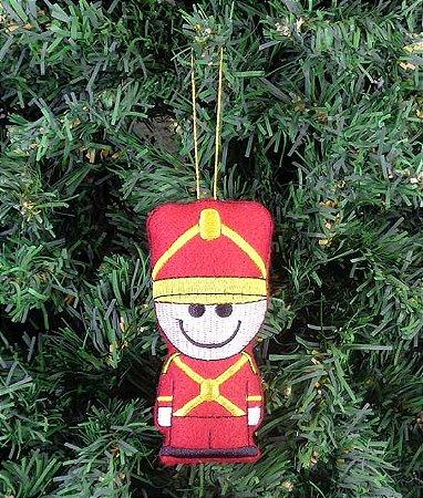 Enfeite de Natal soldadinho de chumbo