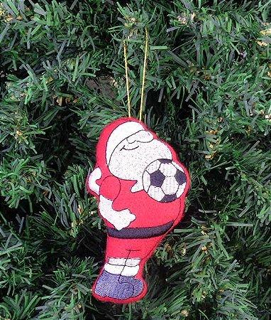 Enfeite de Natal Papai Noel futebol