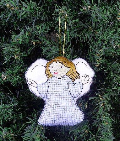 Enfeite de Natal anjo azul