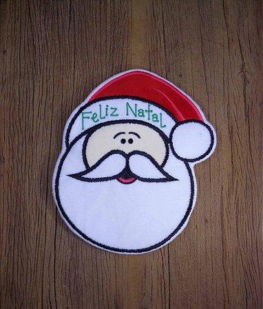 Enfeite de Natal Papai Noel Feliz Natal