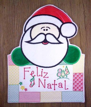 Enfeite de Natal Papai Noel patchwork