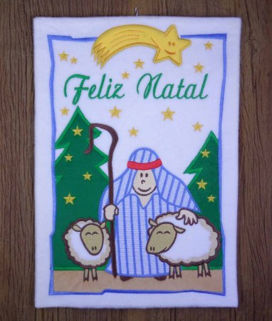 Enfeite de Natal pastor de ovelhas