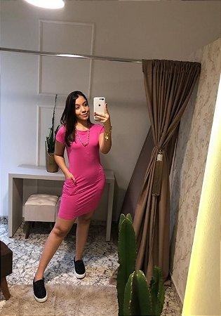 Vestido Maclagen / Tamanho: 42 / Cor: Rosa Pink/Rosa bb