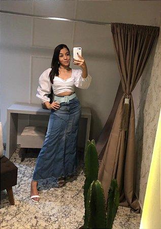Saia Longa Jeans / Marca: Blue Kabana / Tamanho: 38