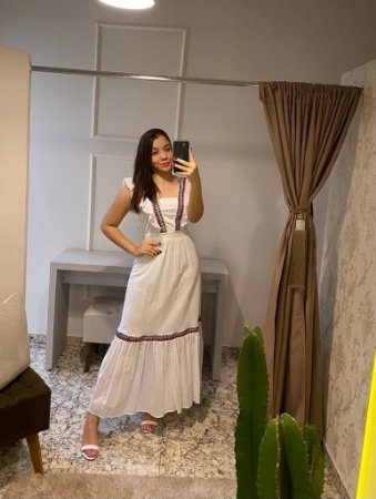 Vestido Deposito / Tamanho P / Cor: Branco