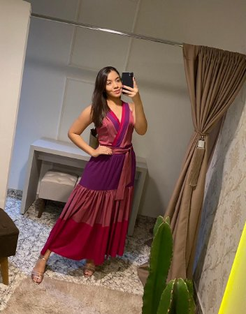 Vestido Kimika / Tamanho: G / Tricolor