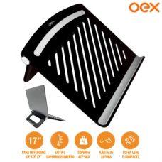 """Suporte Ergonômico para Notebook Até 17"""" Polegadas Ajuste de Altura Suporta até 5kg OEX SN200 - Preto"""
