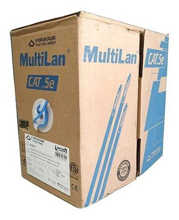 CABO ELET MULTILAN U/UTP 24AWGX4P CAT.5E CMX AZ ROHS - FURUKAWA