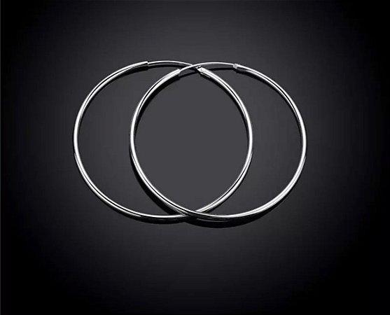 Argola Prata 6 cm