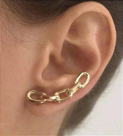 Brinco Ear Cuff Elos Ouro