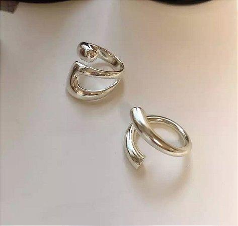 Conjunto Anéis Prata
