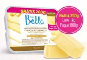 CERA CHOCOLATE BRANCO DEO 800G - PROMOCIONAL - DEPIL BELLA