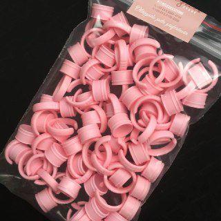 Anel Batoque Descartavel Rosa c/ 50und