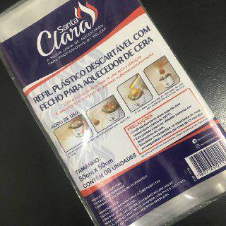 REFIL PLASTICO DESCARTAVEL C/ FECHO P/ AQUECEDOR SANTA CLARA