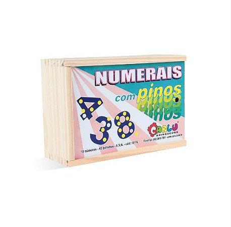 Numerais com Pinos E.V.A
