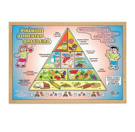 Quebra Cabeça Pirâmide Alimentar Brasileira