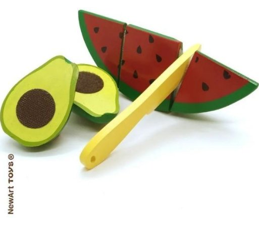 Coleção Comidinhas - Kit Frutas Melancia E Abacate