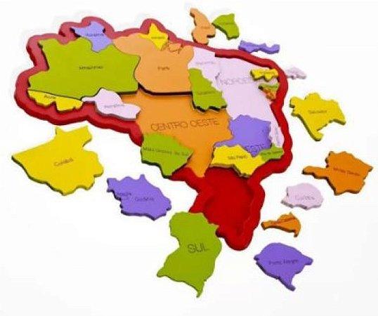 QUEBRA CABEÇA MAPA DO BRASIL REGIÕES E ESTADOS
