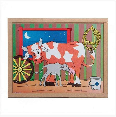 Quebra Cabeça Animais e Filhotes  Vaca