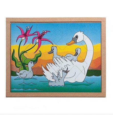 Quebra Cabeça Animais E Filhotes Cisne
