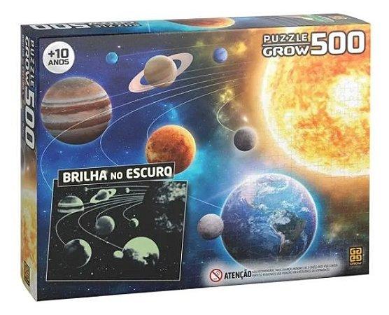 Puzzle 500 Peças Sistema Solar Brilha No Escuro