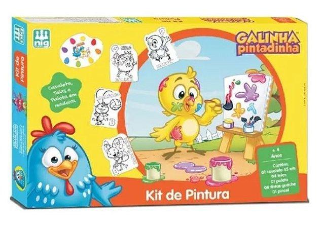 Kit De Pintura Galinha Pintadinha
