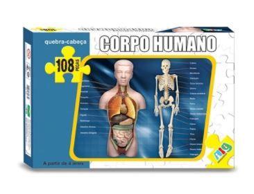 Quebra Cabeça Corpo Humano 108 Pçs