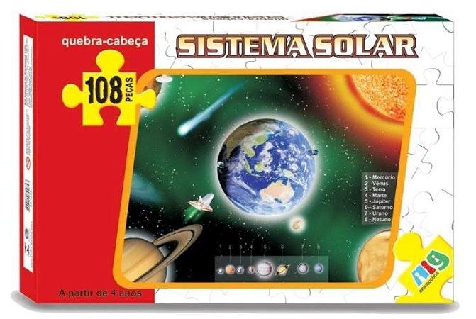 Sistema Solar 108 Pçs Quebra-cabeça