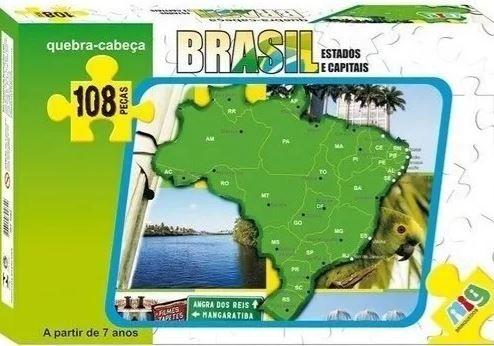 Quebra Cabeça Brasil Estados E Capitais