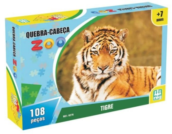 Quebra-cabeça 108 Pçs Zoo Tigre