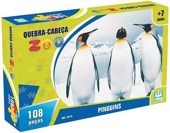 Quebra Cabeça 108 Peças Zoo Pinguins