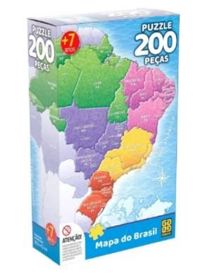 Puzzle 200 Peças Mapa Do Brasil
