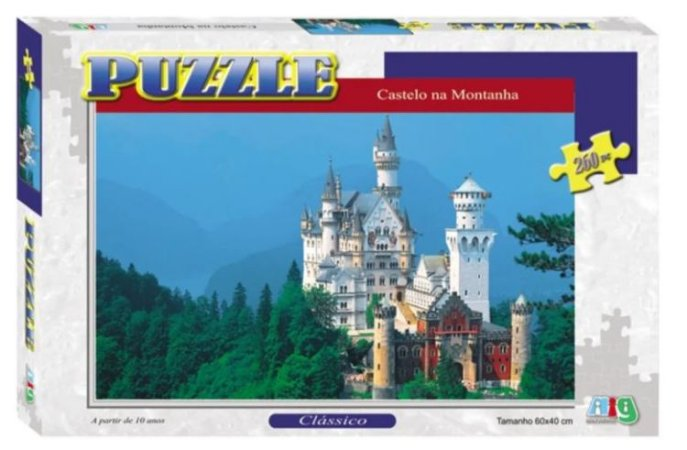 Puzzle 260 Castelo Na Montanha