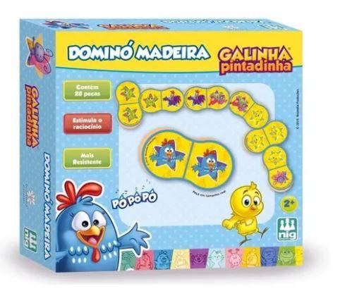 Dominó Madeira Galinha Pintadinha