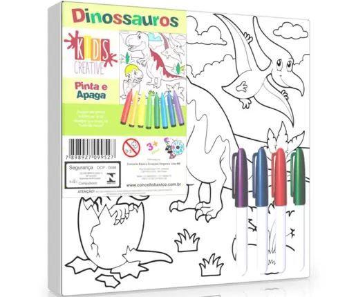 Pinta E Apaga Dinossauros